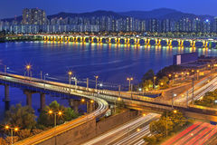 Seoul skyline, Korea Royalty Free Stock Photos