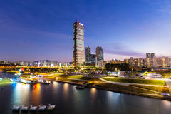 Seoul skyline at night Royalty Free Stock Photos