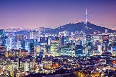 Seoul Skyline. Seoul, South Korea city skyline nighttime skyline Royalty Free Stock Image