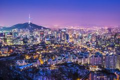 Seoul Skyline Stock Photo