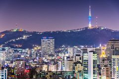 Seoul Skyline Stock Image