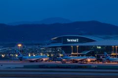 SEOUL, SOUTH KOREA - APRIL 10, 2018: Newly opened Terminal 2 at Incheon Airport stock photos