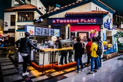 A Twosome Place - Lotte World Adventure stock image