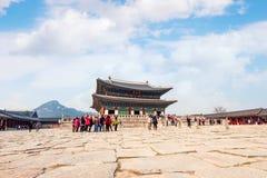 SEOUL, SOUTH KOREA - APRIL 9: Tourists taking photos. Royalty Free Stock Photography