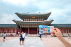 SEOUL, SOUTH KOREA - AUGUST 17: Admission ticket for visit Gyeongbokgung Palace. Royalty Free Stock Photos