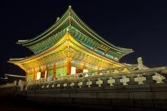 Seoul, South Korea - August 14, 2015: Gyeongbokgung palace at ni Stock Photos
