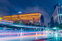 SEOUL, SOUTH KOREA - AUGUST 16, 2015: New City Hall building of Seoul Metropolitan Government shot at night of August 16, 2015 Stock Photo