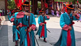 SEOUL, SOUTH KOREA - CIRCA JULY/2016: Royal Palace Guard-Changing Ceremony stock video footage