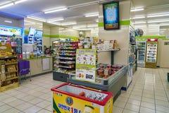 CU convenience store. SEOUL, SOUTH KOREA - CIRCA JUNE, 2017: inside a CU convenience store. CU is a convenience store franchise chain in South Korea stock photography