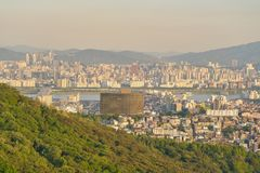 Seoul. SOUTH KOREA - CIRCA MAY, 2017:  city view from Namsan Mountain at daytime.  Special City is the capital and largest metropolis of the Republic of Korea Royalty Free Stock Image