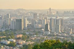 Seoul. SOUTH KOREA - CIRCA MAY, 2017:  city view from Namsan Mountain at daytime.  Special City is the capital and largest metropolis of the Republic of Korea Stock Photo