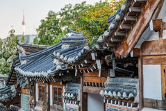 Seoul, South Korea - circa September 2015: Bukchon Hanok Village in Seoul