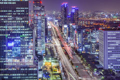 Seoul, South Korea Cityscape at Night Royalty Free Stock Image