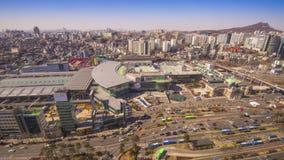 Seoul, South Korea Cityscape stock footage