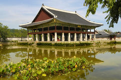 Seoul, south korea, famous pagoda pavillion at Gyeongbok Palace Stock Photography