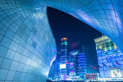 SEOUL, SOUTH KOREA - FEBRUARY 3: Dongdaemun Design Plaza. Royalty Free Stock Images