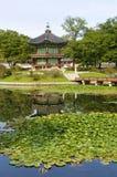 Seoul, south korea, Gyeongbok Palace pagoda, vertical, copy space Stock Photography