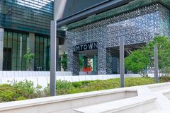 SM TOWN at COEX Artium in Gangnam district, Seoul city. Seoul, South Korea - July 3, 2018 : SM TOWN at COEX Artium in Gangnam district, Seoul city royalty free stock image