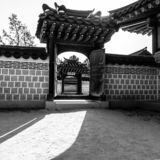 Seoul, South Korea - June 3, 2017 : Traditional korean architecture. Gyeongbokgung Palace,Seoul, South Korea royalty free stock photos