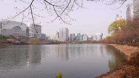 Panorama on Songpa lake, Seoul, South Korea