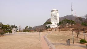 Namsan park, National Library of Korea, and N Seoul Tower, Seoul