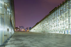 SEOUL, SOUTH KOREA - MARCH 28, 2017: Night shot of underground library of the Ewha Womans University - Seoul, South Korea, March 2 Royalty Free Stock Photography