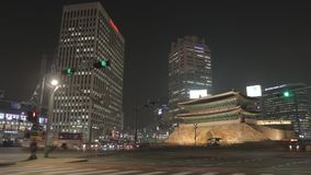 Time lapse of sunset in Seoul with the Namdaemun gate