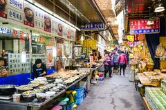 Seoul, South Korea Marketplace Royalty Free Stock Images