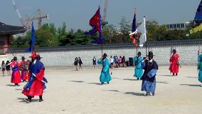 Ceremony of Gate Guard Change near the Gyeongbokgung Palace in Seoul city, South Korea