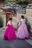 SEOUL - SOUTH KOREA - OCTOBER 21, 2016 : A couple women wander t Stock Photo