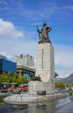 SEOUL, SOUTH KOREA - OCTOBER 28, 2016:Gwanghwamun Square with the. Statue of the Admiral Yi Sun-sin Royalty Free Stock Images