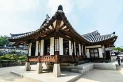 Buddhist temple in Seoul, South Korea stock photography