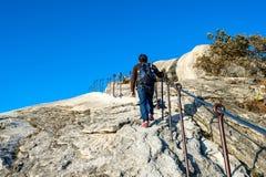SEOUL, SOUTH KOREA - SEP 27: Climbers and Tourists on Bukhansan. Stock Photos