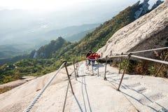 SEOUL, SOUTH KOREA - SEP 27: Climbers and Tourists on Bukhansan. Royalty Free Stock Images