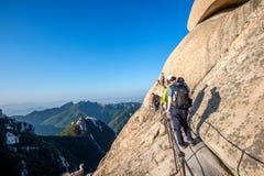 SEOUL, SOUTH KOREA - SEP 27: Climbers and Tourists on Bukhansan. Royalty Free Stock Photography