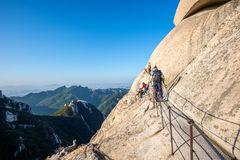 SEOUL, SOUTH KOREA - SEP 27: Climbers and Tourists on Bukhansan. Royalty Free Stock Image