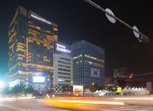 Seoul, South Korea - September 2, 2015: Night view of the Dongda Stock Image