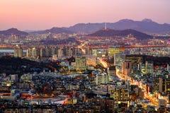 Seoul, South Korea Skyline Royalty Free Stock Photography