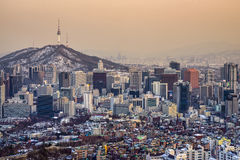 Seoul, South Korea Skyline Stock Image