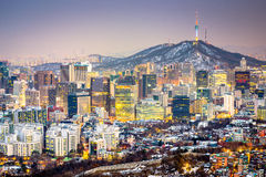 Seoul, South Korea Skyline Stock Images