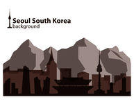Seoul, South Korea skyline illustration Royalty Free Stock Photos