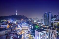 Seoul, South Korea Skyline Royalty Free Stock Image