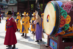 Seoul, South Korea, traditional changing of the royal guard drum Royalty Free Stock Photo