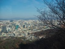 Seoul, South Korea from a vantage point royalty free stock photos