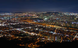 Seoul stad Arkivbild