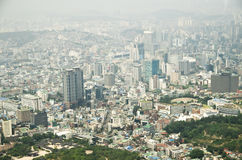 Seoul stad av Korea Arkivfoton