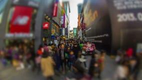 Seoul stad i stadens centrum Myeong-dong arkivfilmer