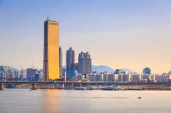 Seoul stad och Han River, Sydkorea Royaltyfri Foto