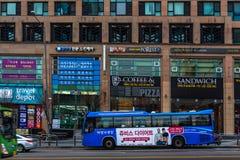Seoul stadsbuss fotografering för bildbyråer