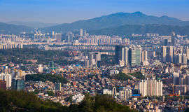 Seoul stadshorisont Arkivbilder